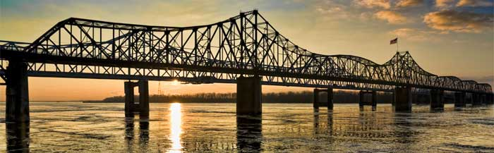 River Bridge at Vicksburg MS